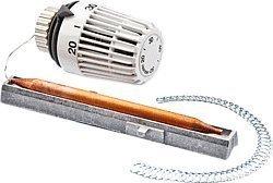 Heimeier Thermostat-Kopf mit Wärmeleitsockel und Spiralfeder, 20 -50 Grad 2m 6402-00.500