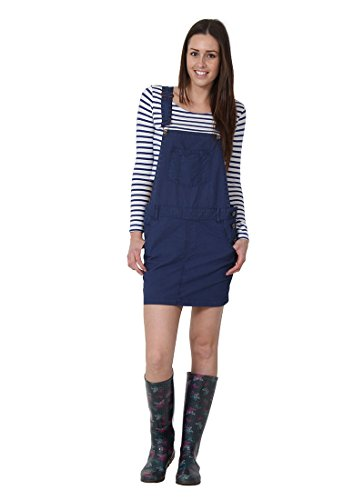 USKEES CLAIRE Kurze Latz Kleid Oversized Latzhosenkleid Damen-Latzkleid Modisch CLAIRENAVY-12