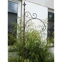 Garteninspiration RostMetall-Hakenstecker 180cm für Gartenlaterne Glaslaterne Windlicht Gartendeko