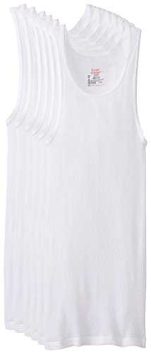 Hanes Men's 372ap6 Tagless® ComfortSoft® White Undershirt 6-Pack