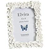 Cornice per foto Elvira, farfalla e fiori, 15,2x 10,2cm