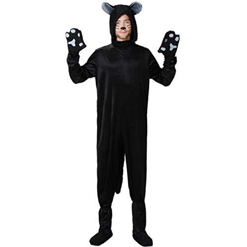 Kostüm Erwachsene Niedlichen Für Tier - GJ688 Halloween erwachsenes Kind Cosplay Schwarze Katze kostüm niedlichen Tier kostüm Party Dress,Man,XL
