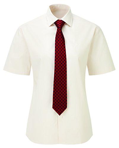 Caldene Competition - Camicia da gara Finberry Donna, a maniche corte, Beige (Cream Stripe), ca. 35,5 cm