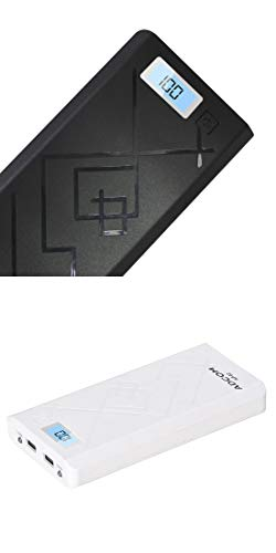 Adcom 20000 mAH Lithium-ion AP02 Power Bank with LCD Display (Black and White Combo) - Pack of 2
