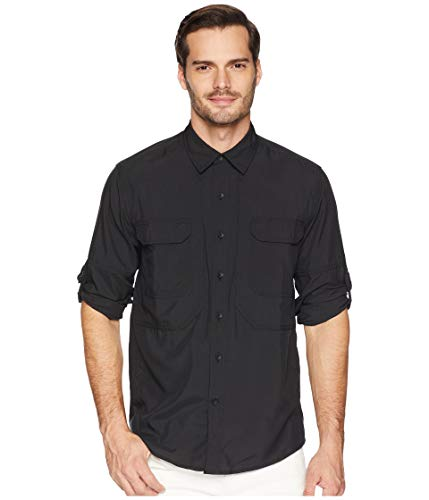 Royal Robbins Herren Langarmshirt Expedition Chill, Herren, Expedition Dry Long Button Down Shirt, Large, Jet Black, Jet Black, Large (Royal Robbins Expedition)