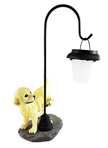 Wichtelstube-Kollektion Hund mit Laterne Solarlampe Garten Hundefigur Solar