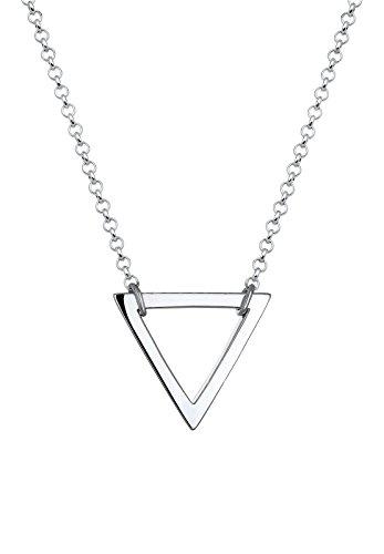 Elli Damen Schmuck Echtschmuck Halskette Kette ohne Anhänger Dreieck Geo Blogger Trend Sterling Silber 925 Länge 45 cm