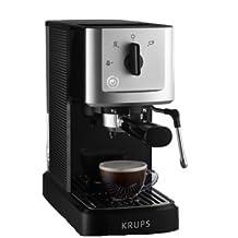 Krups compacto de espresso automática, con portafiltro y boquilla de vapor para espuma de leche