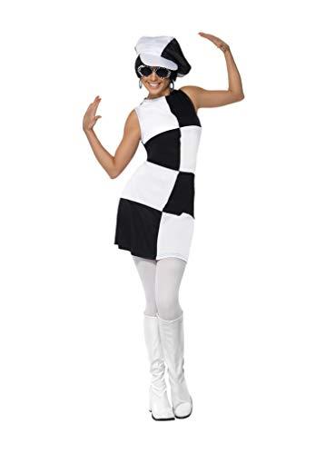 Jahre 60er Swinging Kostüm - Smiffys Damen 60er Partygirl Kostüm, Kleid und Mütze, Größe: L, 21142