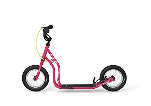 Yedoo Kinder Tretroller Mau New - für die kleinsten Kinder ab 100 cm (4 - 7 Jahre) - für Mädchen und Jungen Höhenverstellbar in pink - Lernlaufrad mit Reflektoren