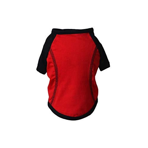Die Kleidung für die Haustiere, T-Shirt Herbst stilvolles Haustier Hund Sportkleidung Welpen-Hündchen-Kostüm-Kleid (1pcs M)