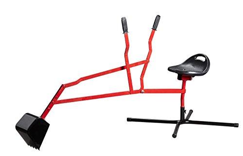 Izzy Metall Sitzbagger für Kinder, Sandkastenbagger, Aufsitzbagger, Tragkraft bis 35 kg