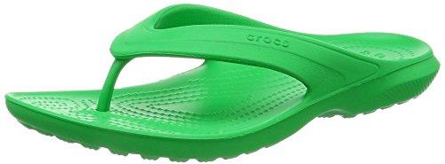 crocs Unisex-Erwachsene Classicflip Pantoffeln Grün (Grass Green)