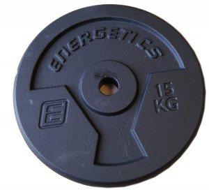 Energetics Guss 2 X 0,5 Hantelscheibe, Schwarz, 2 x 0.5 kg