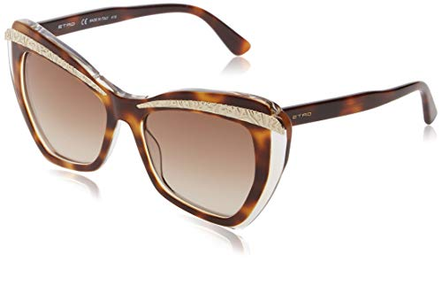 Etro et645s 249 55 occhiali da sole, marrone (havana/crystal), donna