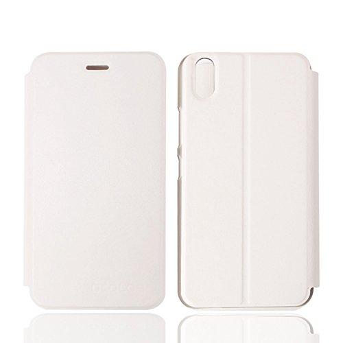 Guran® PU Leder Tasche Etui für UleFone Paris Smartphone Flip Cover Stand Hülle Case-weiß