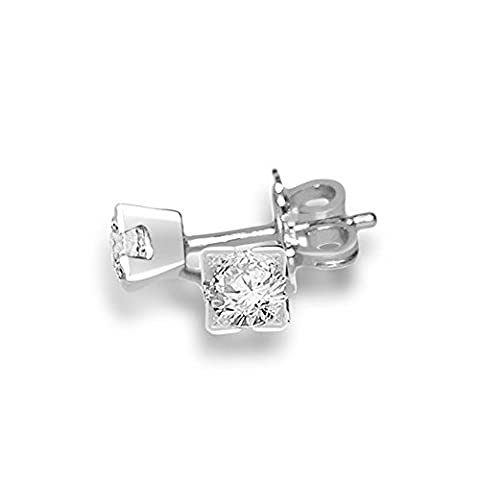 0.25ct F/VS1 Diamond Stud Earrings for Women with Round Brilliant