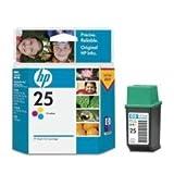 HP Cartucho tricolor de inyección de tinta HP 25 25 Inkjet Print Cartridges, de -15 a 35° C, 0.08 kg (0.176 libras)