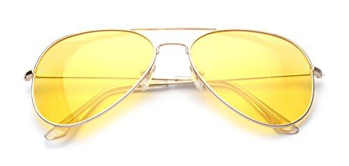 Outray - Lunettes de soleil - Homme Jaune - Gold/Yellow