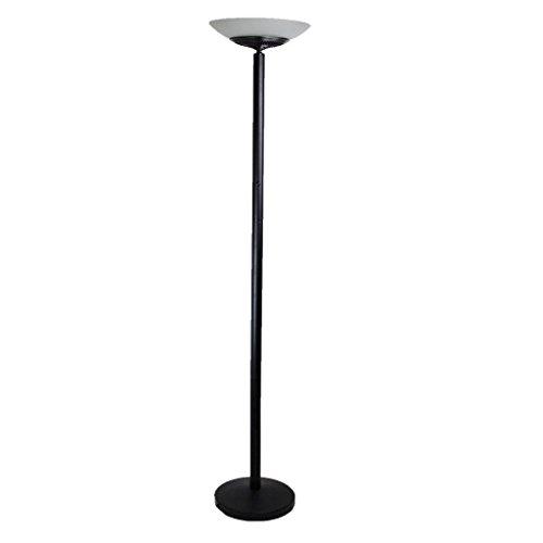 LED Floor Standing Energy Efficient Floor Lamp Uplighter Torchiere Black Warm Discount