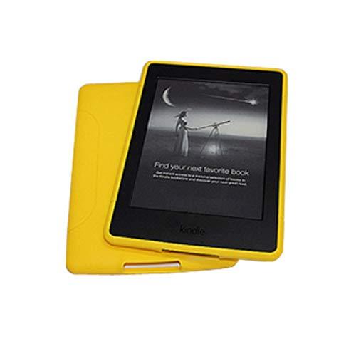 DATOUDATOU Weiches Silikon Hülle Abdeckung für Amazon Kindle Paperwhite 2 3 Abdeckung Super Slim Rückseite Gehäuse gelb (Gelb Kindle Abdeckung)