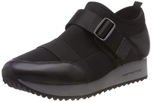 Fornarina sneaker a collo alto donna, nero (next1 black) 40 eu
