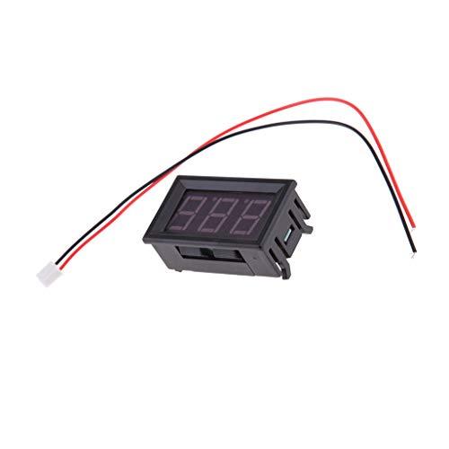 D DOLITY Voltímetro Digital Medidor de Potencia Corriente Voltaje Inteligente, DC 5-130 V - rojo