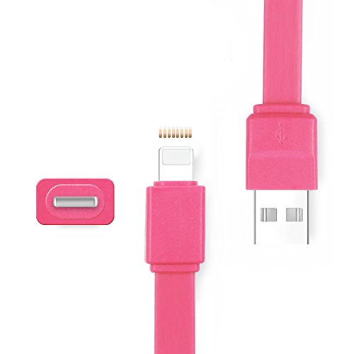 Ipod Pin-anschluss (iProtect Candy Ladekabel Datenkabel mit bunter Verpackung für Apple iPhone SE, 5, 5s, 5c, 6,6s, 6 Plus, 7, 7 Plus, iPod, iPad etc. mit Lightning Anschluss in Pink)