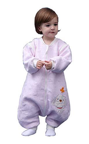 Babyfat sacco nanna/pigiama con piedini neonato bambino autunno/invernale 2.5tog rosa label 100(2-3t)