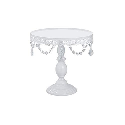 Bclaer72 Cupcake Stand, Runde Cupcake Halter Kuchen Display Dessert Stand mit Crystal Clear hängenden Perlen Dekoration Hochzeit Geburtstag Party Podest Display Platte(M) - Stand Crystal