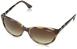 Vogue Gradient Oval Sunglasses (0VO2894SB191613Medium) (Top Havana and Transparent)