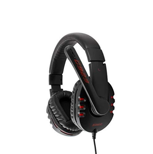 SHENGY PC-Gaming-Headset (3,5 mm Stereo-Kabel Gaming Headset mit Mikrofon und Rauschunterdrückung und Lautstärkeregler für Xbox One/PC/Mac / PS4 / Desktop schwarz