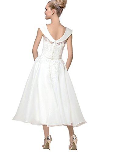 Ikerenwedding Damen A-Linie Kleid Small Weiß