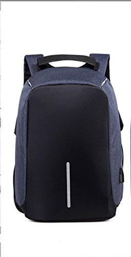 Ruanlei @ Tela Casual zaini viaggio/ laptop backpack / multifunzione zaino business/ Backpack resistente all'acquaUsb multifunzione business double borsa a tracolla, blu scuro 32 pollici
