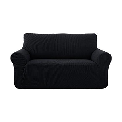 Deconovo copridivano trapuntato fodera protettiva per divano 2 posti nero