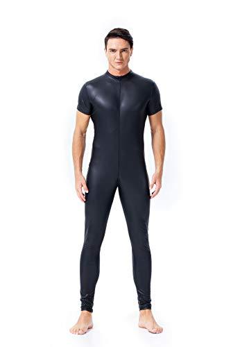 WYYSYNXB Sexy Herren PVC Bodysuit Nachtclub Bühne ds Kostüm,XL