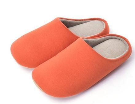 Automne et hiver, chaussons coton épaissie, maison plancher anti - skid Accueil hommes et femmes chaussures d'intérieur female red