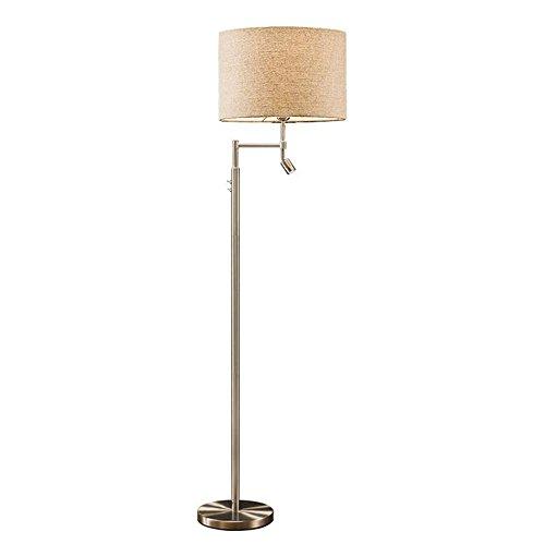 Atmko®Lampada da Terra Lampada a Stelo Piantana Lampada moderna moderna in metallo Contemporanea Semplicità Luce permanente con LED Lampada da lettura 3W e lampadario in tessuto per camera da letto in camera da letto