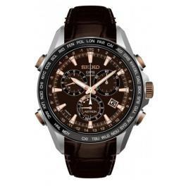 Seiko Herren-Armbanduhr Chronograph Quarz Leder SSE025J1