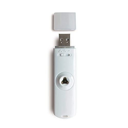 Aroflora 758 Keylia Diffuseur d'Huiles Essentielles par Brumisation sur Port USB Blanc