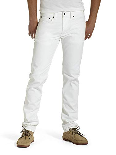 Levi's Men's 511 Slim Fit Jean, White - Stretch, 33W x 32L