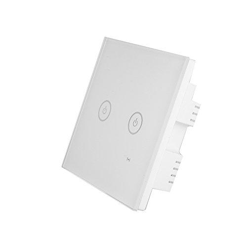 Auntwhale Conmutador inteligente de luz de pared WIFI [Configuración del temporizador] [con...
