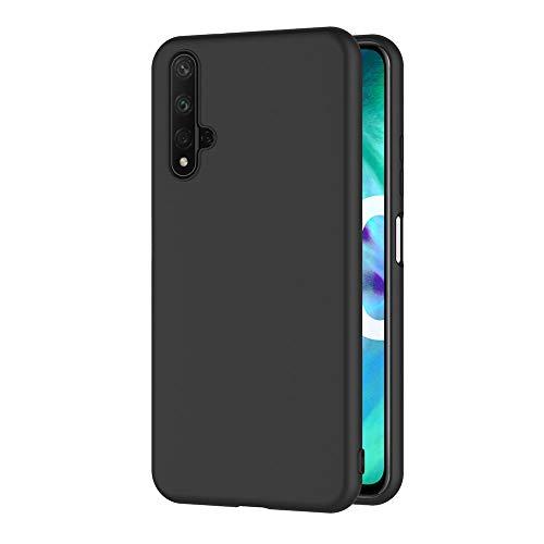 AICEK Coque Compatible Honor 20, Noir Silicone Coque pour Huawei Honor 20 Housse Honor 20 Noir Silicone Etui Case (6,26 Pouces)