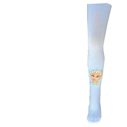 FROZEN ELSA ANNA Die Eiskönigin Strumpfhose Legging weiß hellblau 92 - 122 NEU (116/122, (Disney Elsa Kleid Frozen)