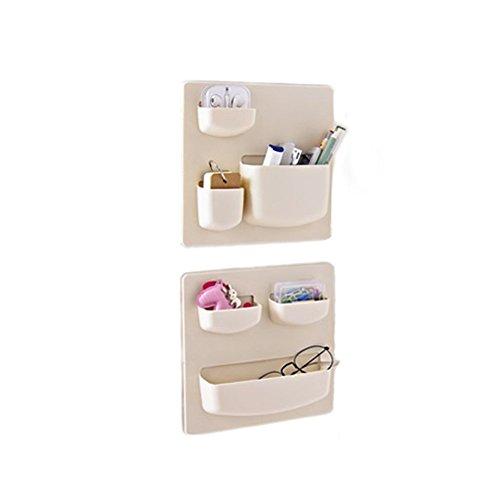Choice Fun Über der Tür Küche Storage Organizer Kunststoff Wandhalterung Lagerung Inhaber Beige 2 Stück - Küche über Der Der Tür Storage