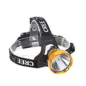 Haidelaimp Ricaricabile Testa LED Torcia Migliori e più Brillanti Spotlight Faro Zoomable Luce di Campeggio di Caccia fari Speleologia Torcia Lampada Corrente di Testa Costruzione Elmetto Lu