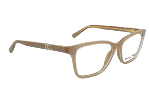 Dolce & Gabbana Women's 3153p Iconic Logo Pearl Sand Frame Plastic Eyeglasses, 54mm