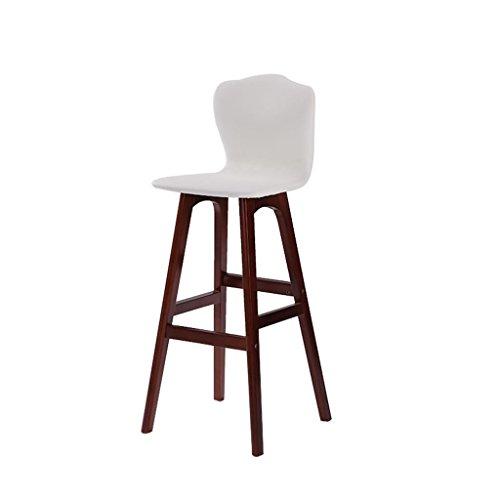 GHFDSJHSD Retro Küche Hocker mit natürlichen Holz Beine High Stuhl Bar Hocker PU Kissen Sitz Frühstück Bar, 360 Grad schwenkbar Hanf Seil Design, Höhe 71cm-74cm für Küche Counter Bar, 16 -