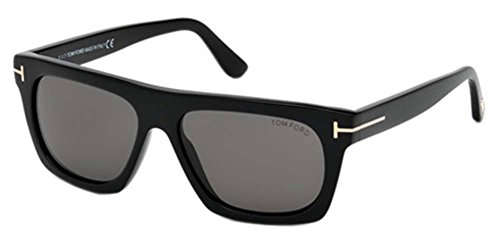 Occhiali da sole tom ford ernesto-02 ft 0592 shiny black/grey unisex