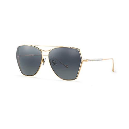 XFGHN Sonnenbrillen weibliche Flut-Polarisator UV-Schutz-Big Box Driving Gläser (Color : Black) -
